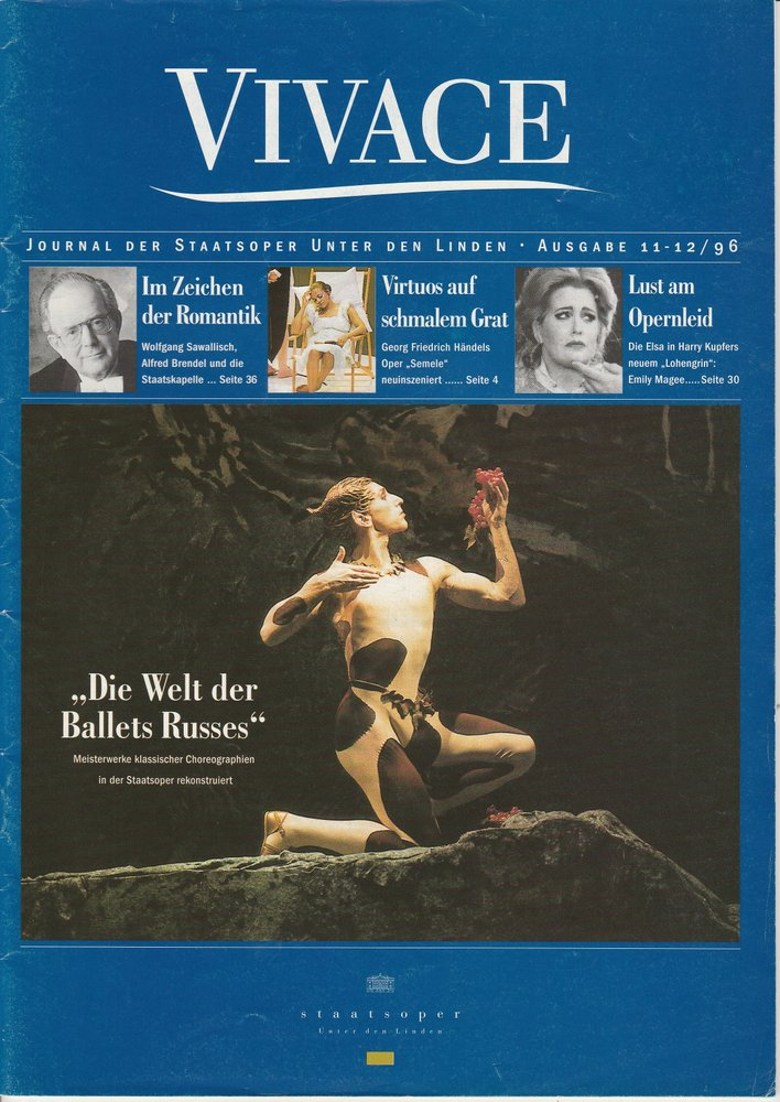 VIVACE Journal der Staatsoper unter den Linden Ausgabe 11 - 12 / 96