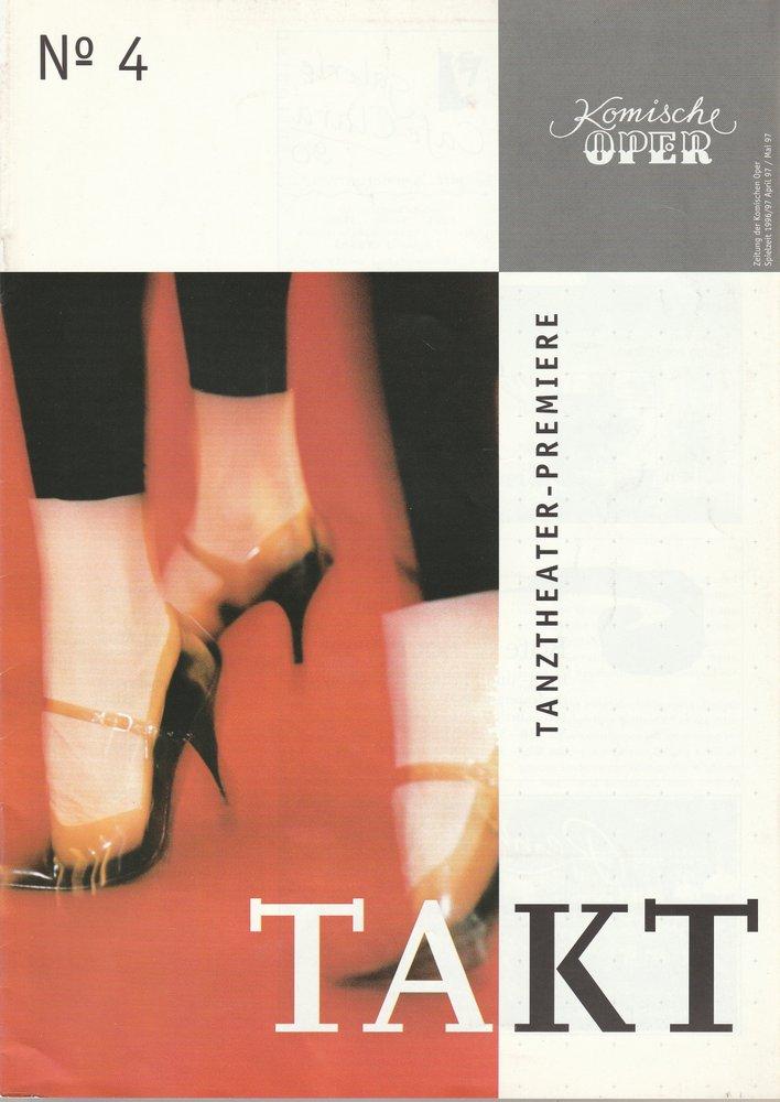 Zeitung der Komischen Oper April / Mai 1997 Spielzeit 1996 / 97 No 4