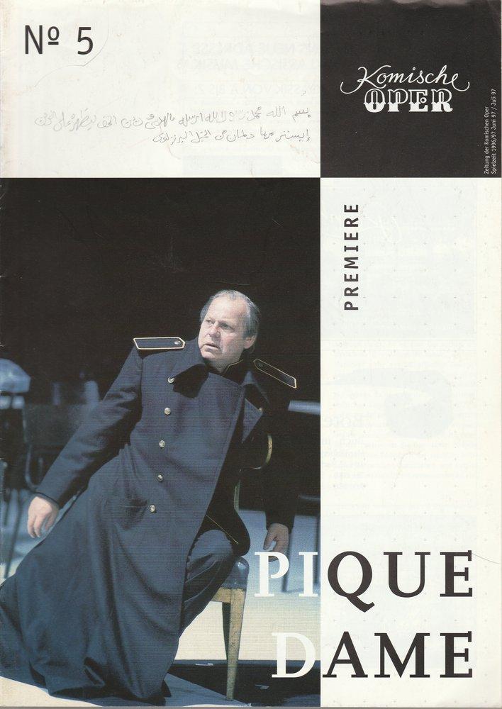 Zeitung der Komischen Oper Juni / Juli 1997 Spielzeit 1996 / 97 No 5