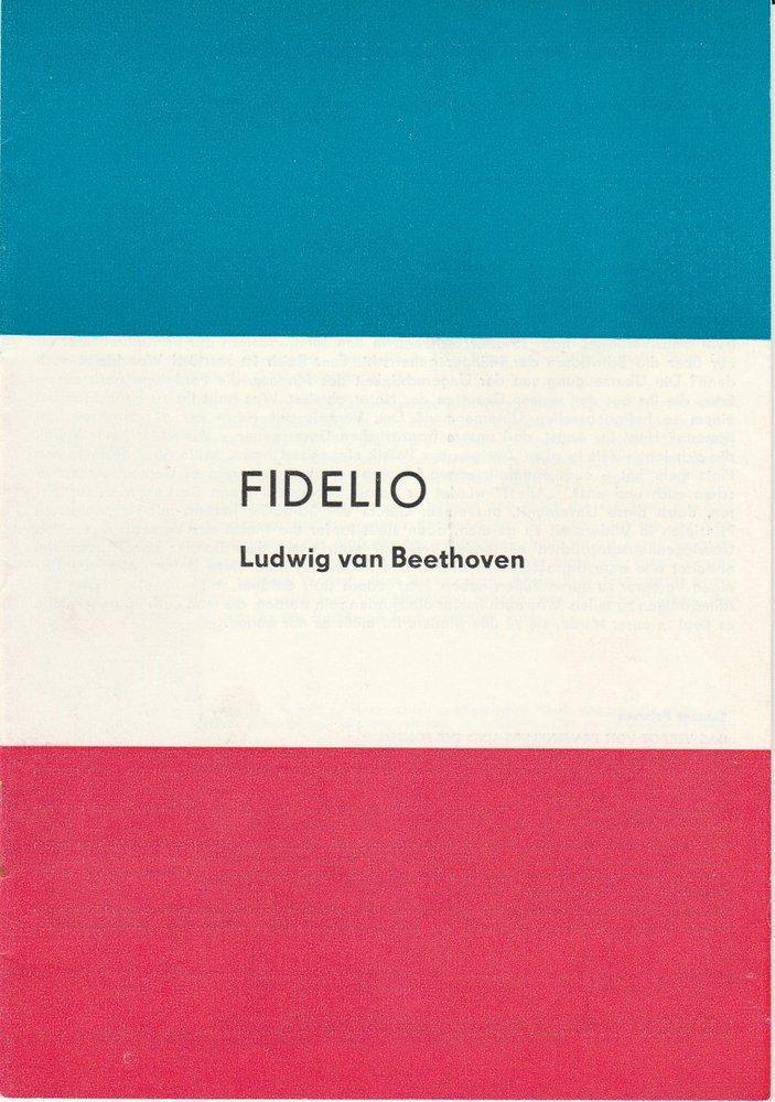 Programmheft Ludwig van Beethoven: FIDELIO Brandenburger Theater 1989