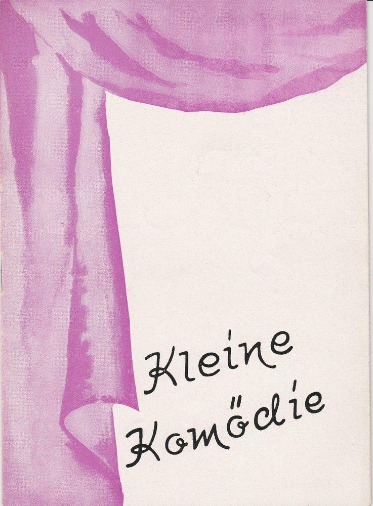 Programmheft Curt Goetz: Dr. med. Hiob Prätorius Kleine Komödie am Max II 1953