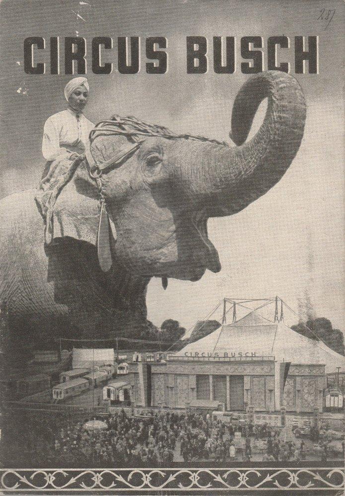Programmheft Circus Busch 1954