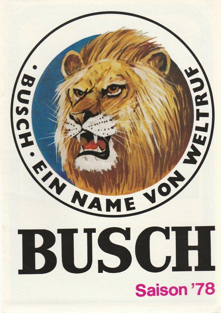 Programmheft ZIRKUS BUSCH SAISON '78