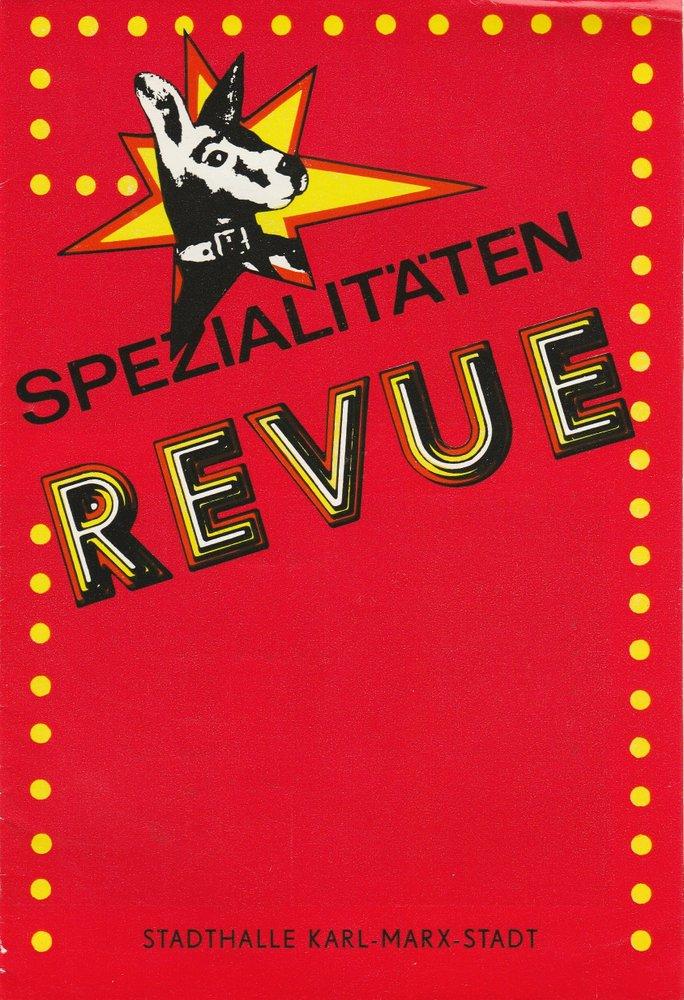 Programmheft SPEZIALITÄTEN REVUE Nr. 2 Stadthalle Karl-Marx-Stadt 1986