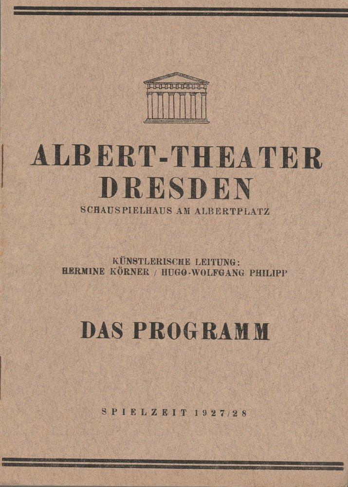 Programmheft DER STAR Hermann Bahr Albert-Theater Dresden 1927