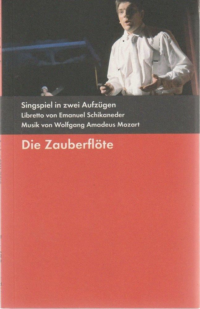 Programmheft Mozart DIE ZAUBERFLÖTE Bühnen der Stadt Gera 2011