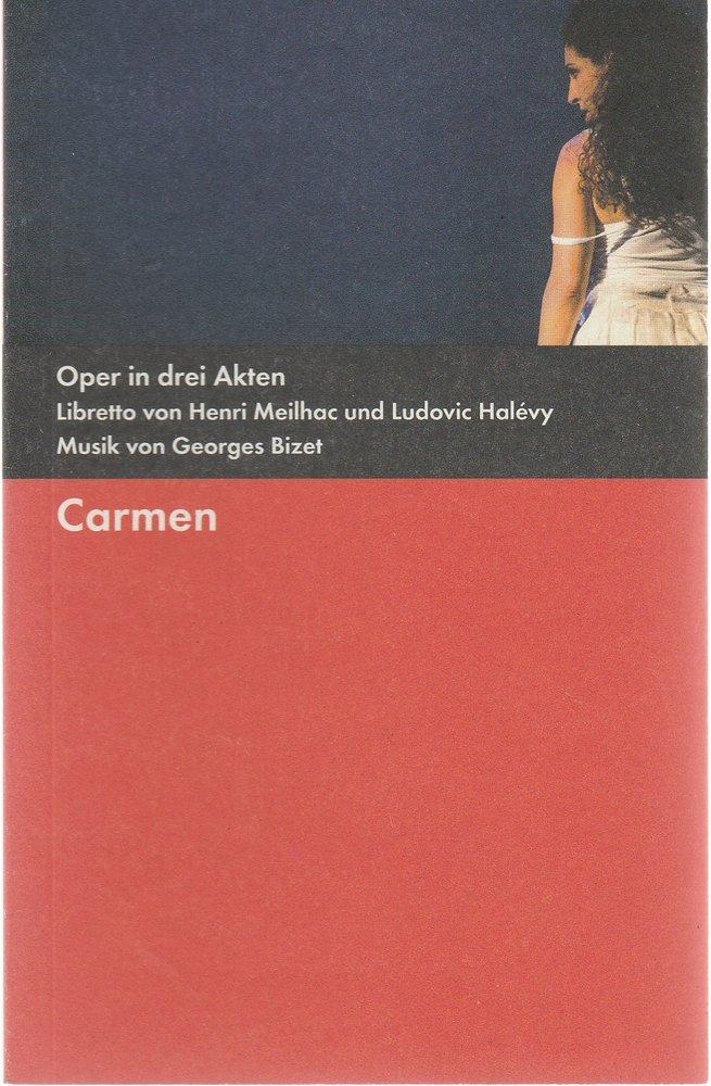 Programmheft Georges Bizet CARMEN Bühnen der Stadt Gera 2011