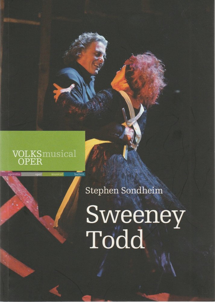 Programmheft Stephen Sondheim SWEENEY TODD Volksoper Wien 2013