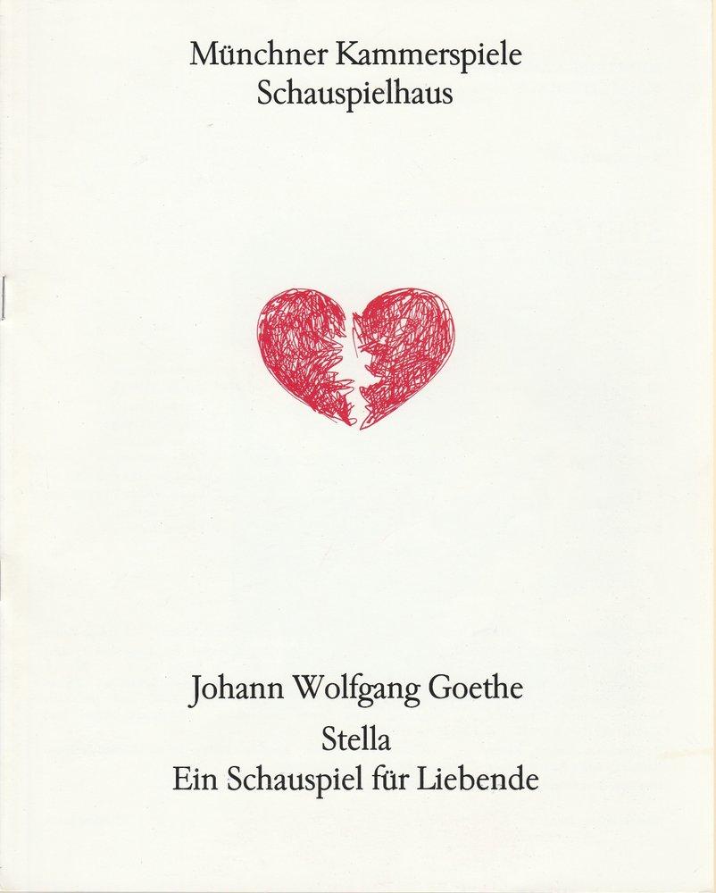 Programmheft Johann Wolfgang Goethe STELLA Münchner Kammerspiele 1991