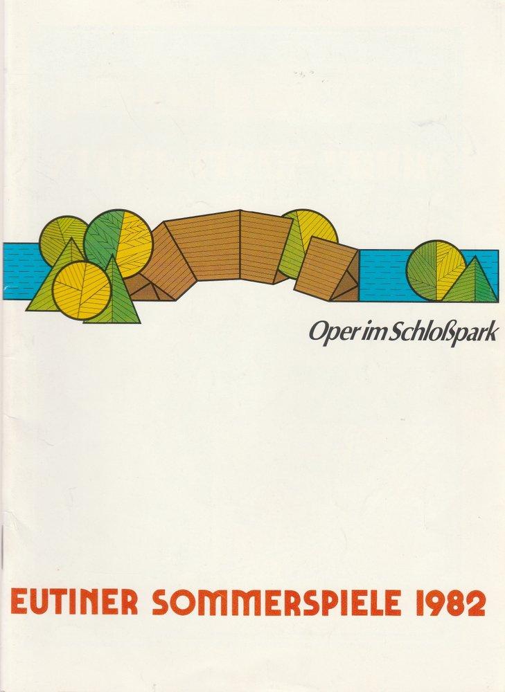 Programmheft DIE ZAUBERFLÖTE / DER FREISCHÜTZ Eutiner Sommerspiele 1982