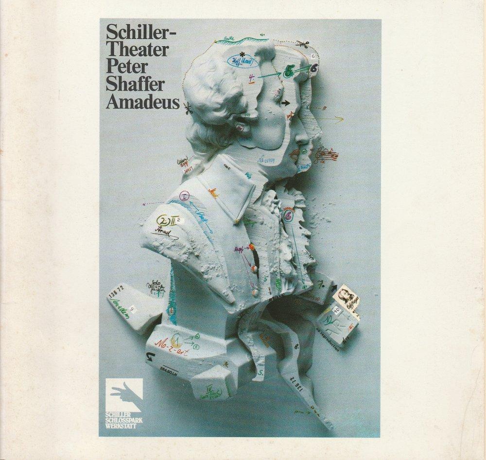 Programmheft Peter Shaffer AMADEUS Schiller - Theater 1981