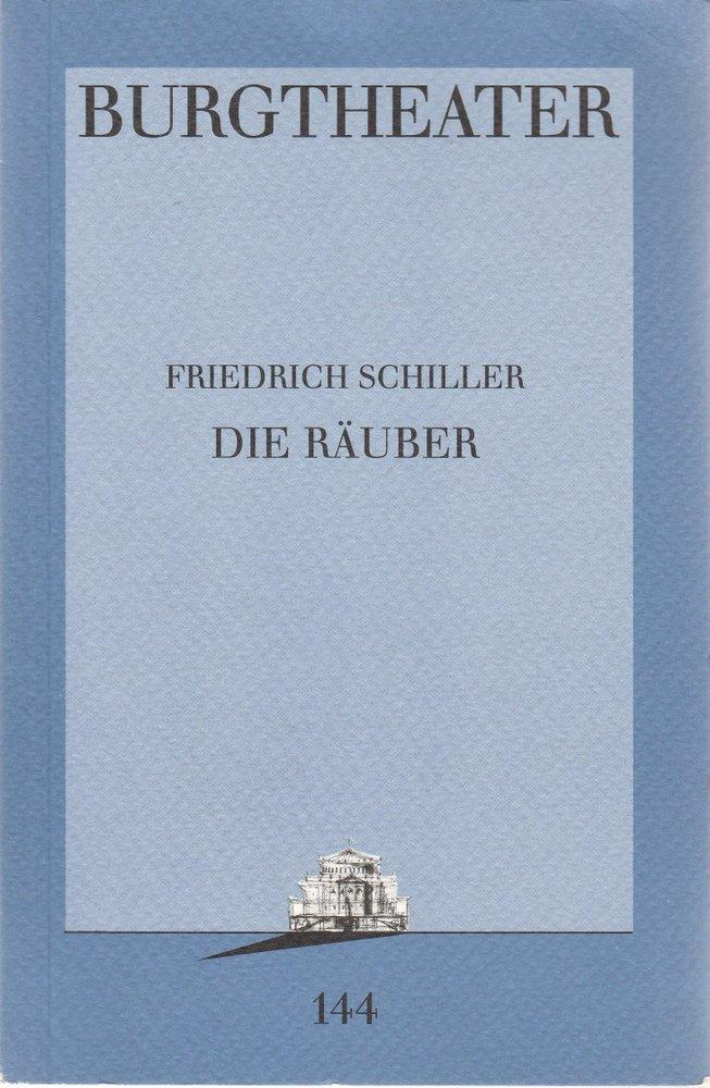 Programmheft Friedrich Schiller DIE RÄUBER Burgtheater Wien 1995
