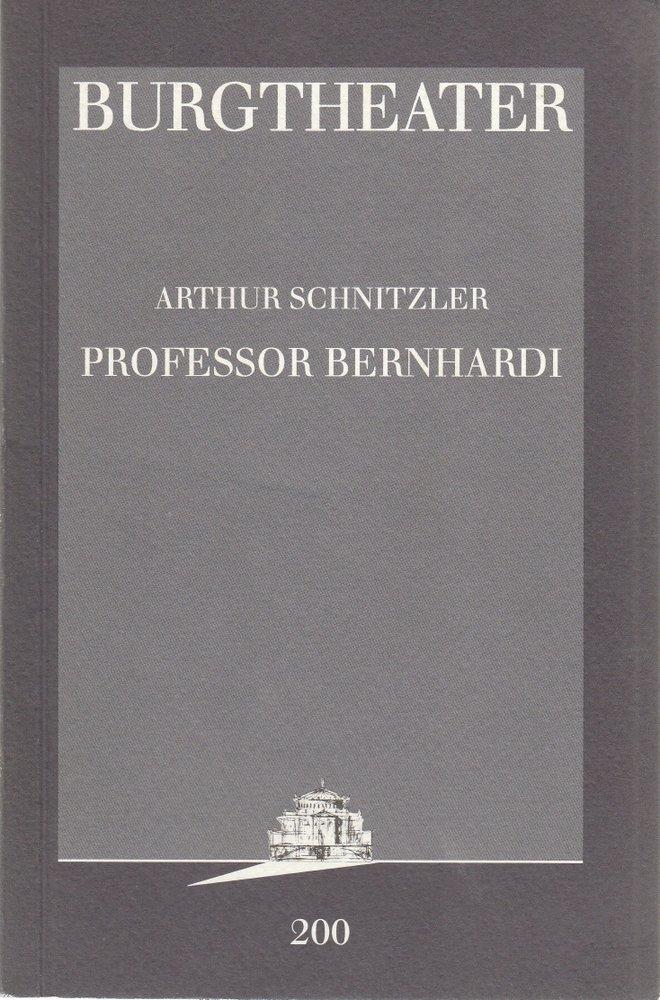 Programmheft Arthur Schnitzler PROFESSOR BERNHARDI Burgtheater Wien 1998