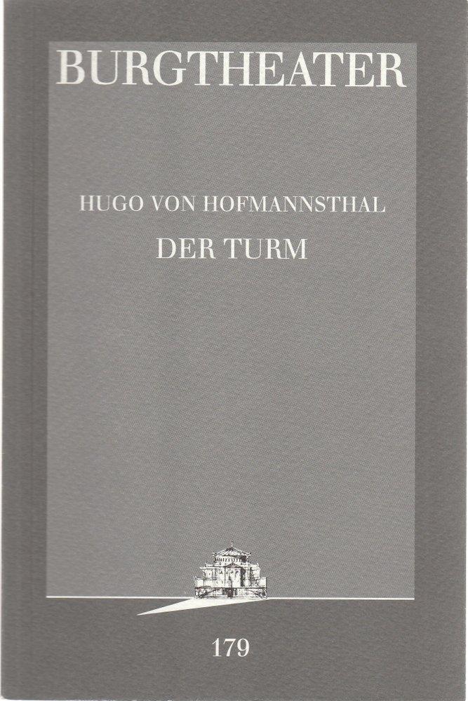 Programmheft Hugo von Hofmannsthal DER TURM Burgtheater Wien 1997