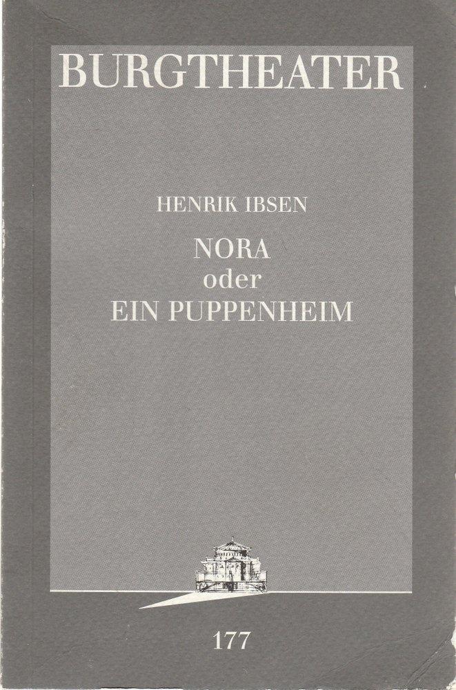 Programmheft Henrik Ibsen NORA oder EIN PUPPENHEIM Burgtheater Wien 1997