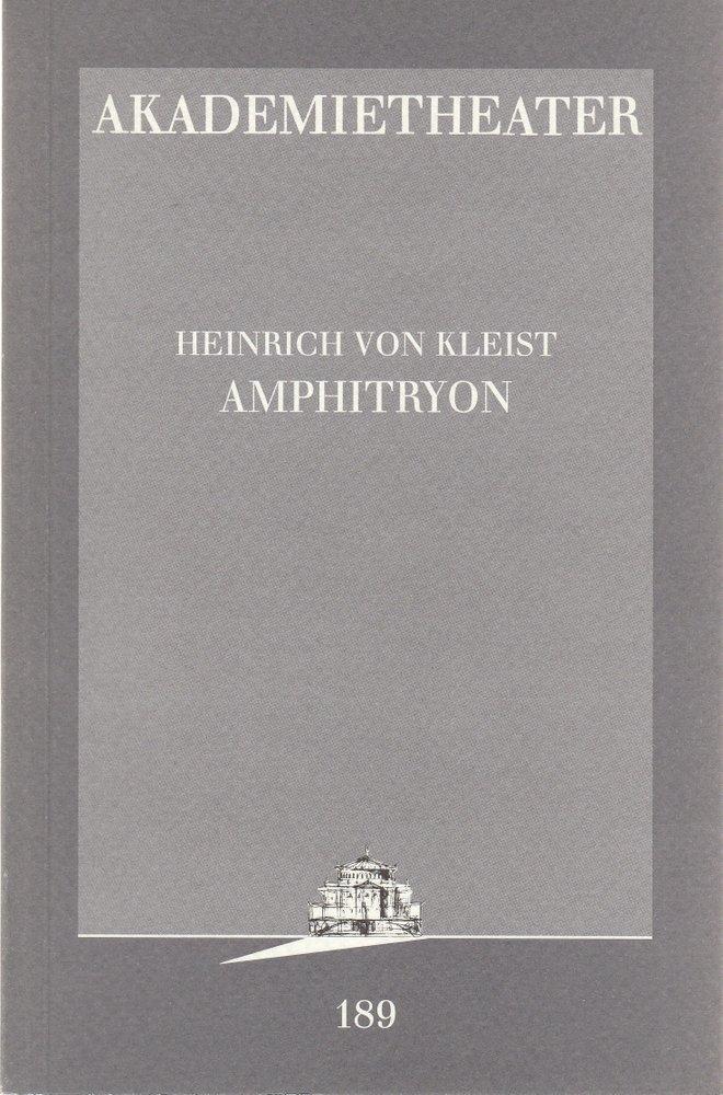 Programmheft Heinrich von Kleist AMPHITRYON Akademietheater 1997