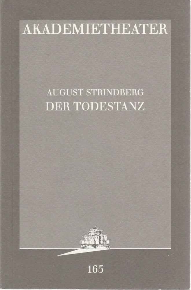 Programmheft August Strindberg DER TODESTANZ Akademietheater 1996