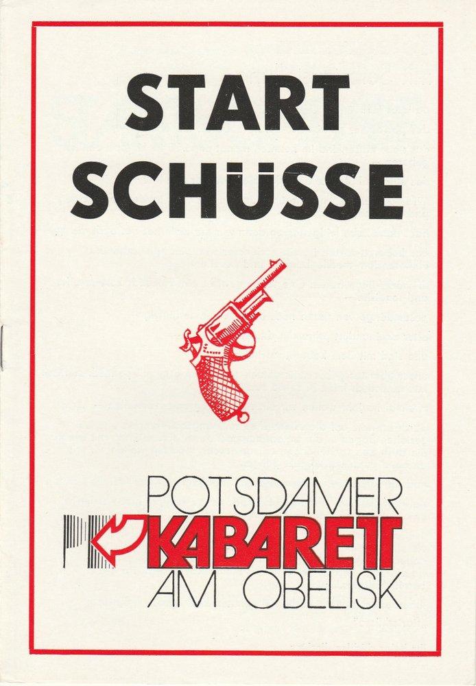 Programmheft STARTSCHÜSSE Potsdamer Kabarett am Obelisk 1978
