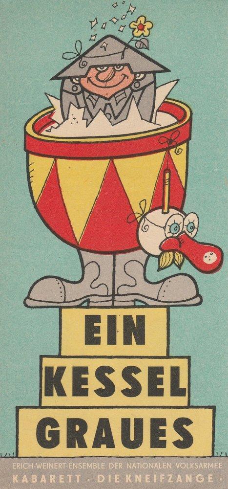 Programmheft Ein Kessel Graues Kabarett die Kneifzange 1972
