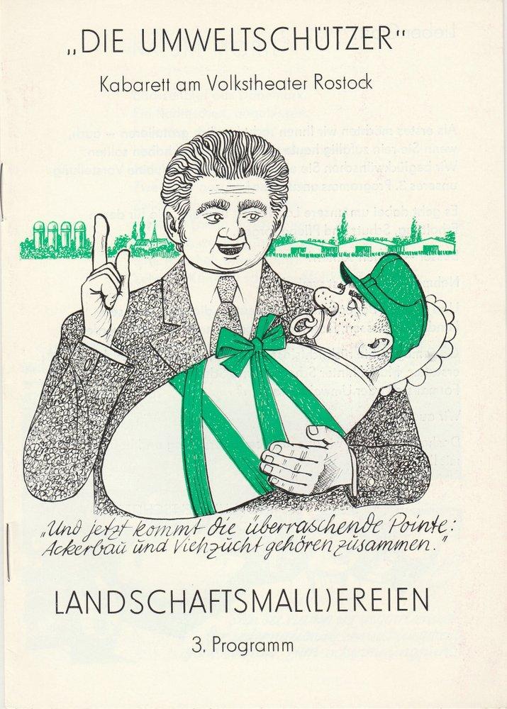Programmheft LANDSCHAFTSMAL(L)EREIEN Die Umweltschützer Kabarett 1982