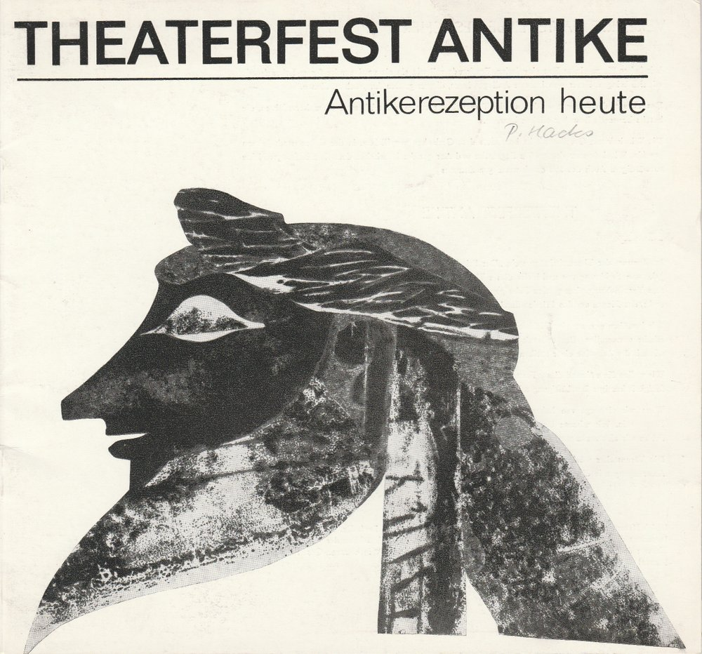Programmheft THEATERFEST ANTIKE - Antikerezeption heute Stendal 1981