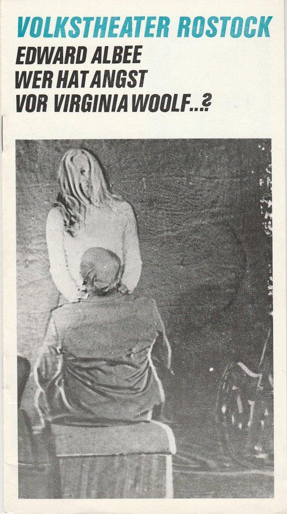 Programmheft Edward Albee: Wer hat Angst vor Virginia Woolf Rostock 1976