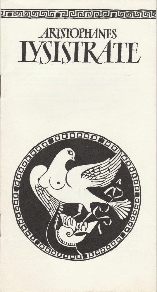 Programmheft LYSISTRATE. Komödie von Aristiphanes Bühnen Erfurt 1980