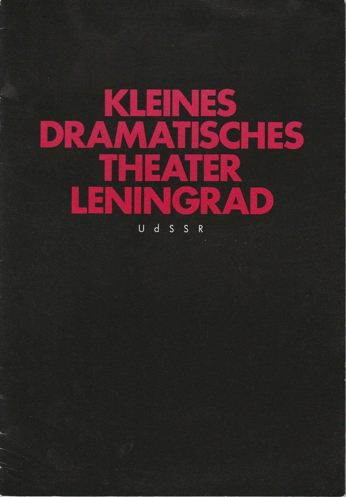 Programmheft Fjodor Abramow: Brüder und Schwestern / Das Haus 1987