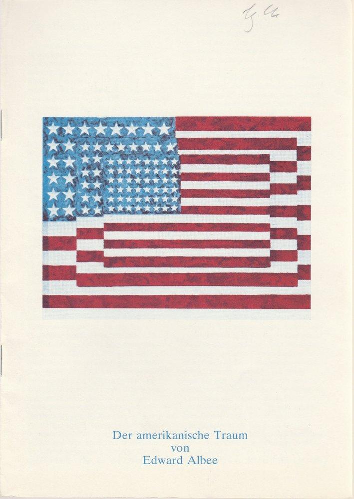 Programmheft Edward Albee: Der amerikanische Traum Schauspiel Köln 1976