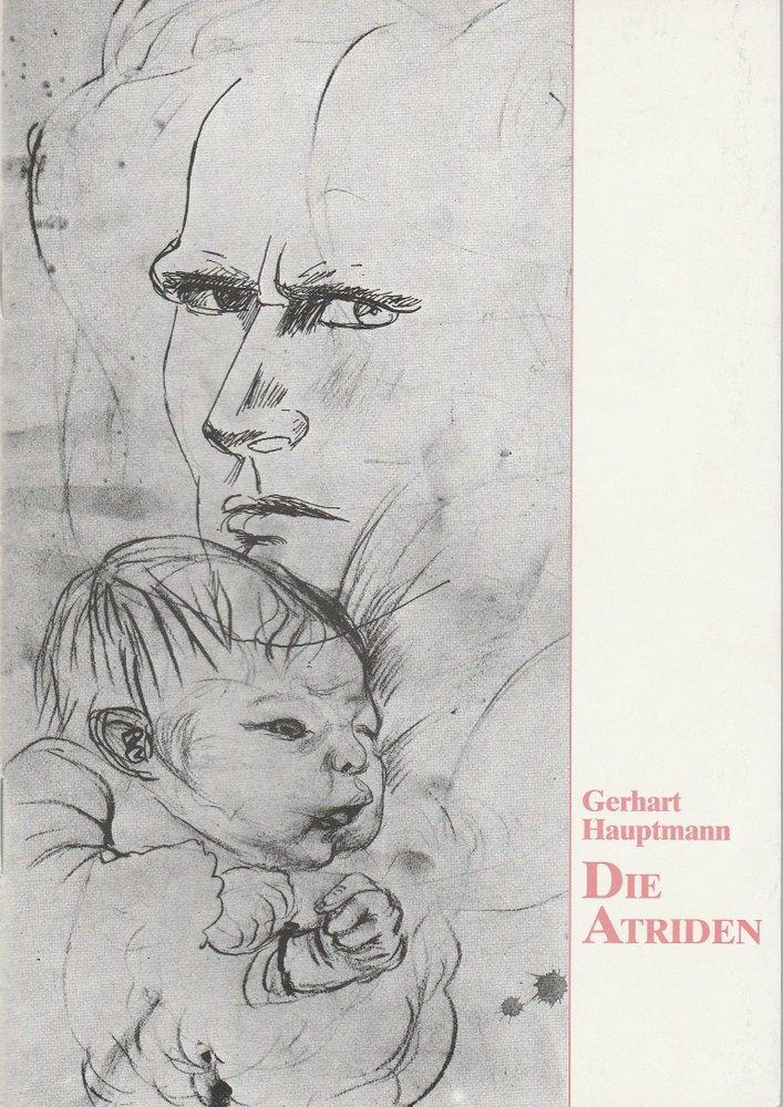 Programmheft Gerhart Hauptmann: DIE ATRIDEN Bühnen Bielefeld 1989