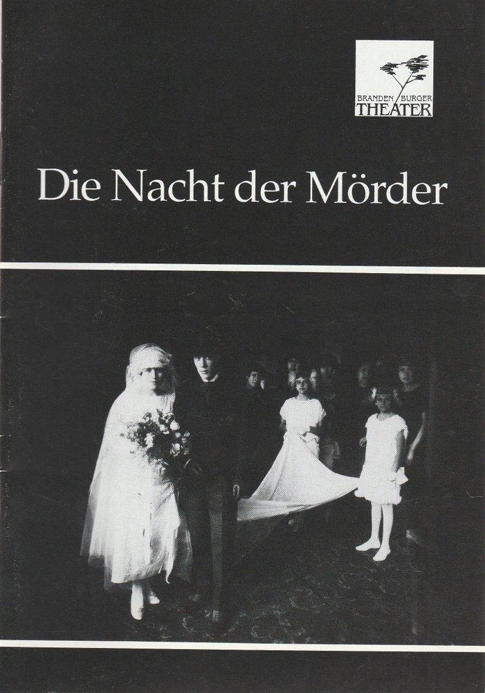 Programmheft DIE NACHT DER MÖRDER von Jose Triana Brandenburger Theater 1992