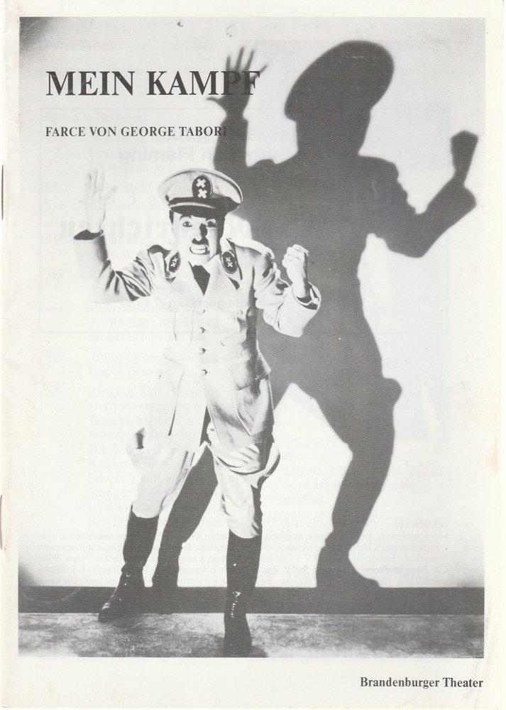 Programmheft MEIN KAMPF von George Tabori Brandenburger Theater 1991