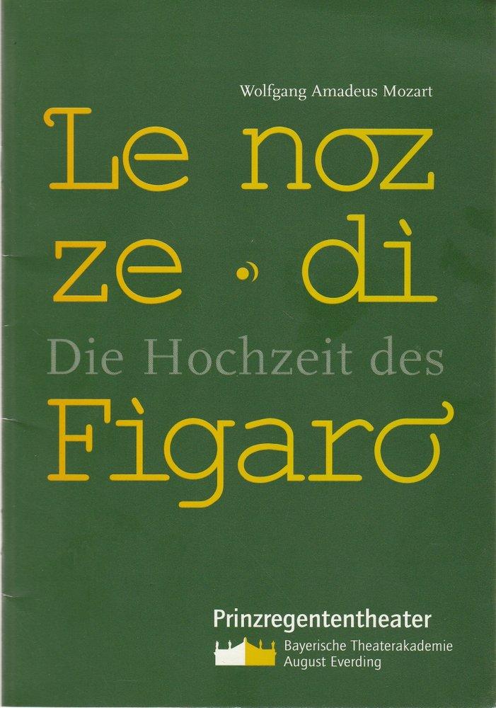 Programmheft Mozart LE NOZZE DI FIGARO Bayerische Theaterakademie 2003