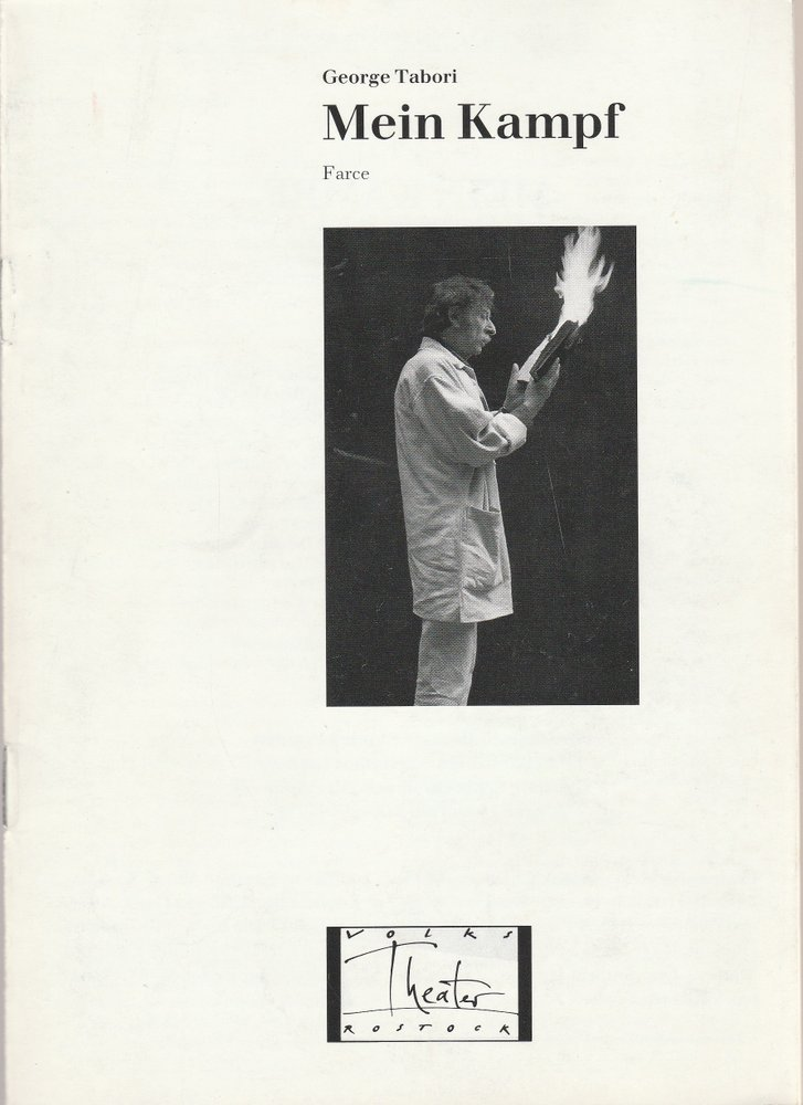 Programmheft MEIN KAMPF. Farce von George Tabori Volkstheater Rostock 1991