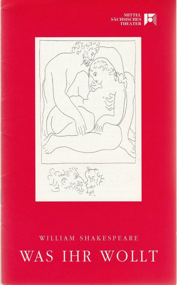 Programmheft William Shakespeare: WAS IHR WOLLT Mittelsächsisches Theater 1994