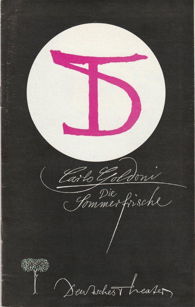 Programmheft Carlo Goldoni: DIE SOMMERFRISCHE Deutsches Theater DDR 1974