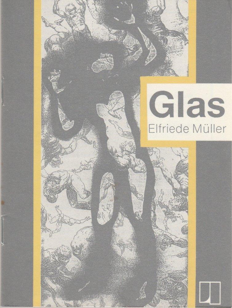 Programmheft GLAS von Elfriede Müller emma theater osnabrück 1992