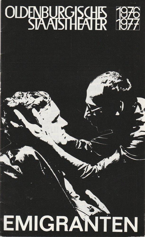 Programmheft EMIGRANTEN von Slawomir Mrozek Oldenburgisches Staatstheater 1977