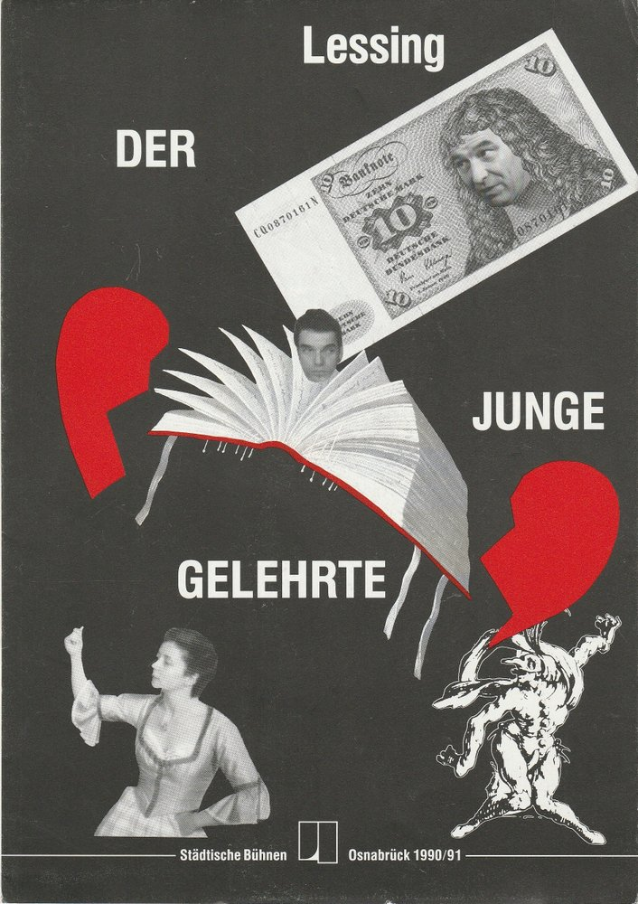 Programmheft Lessing DER JUNGE GELEHRTE emma-theater Osnabrück 1991