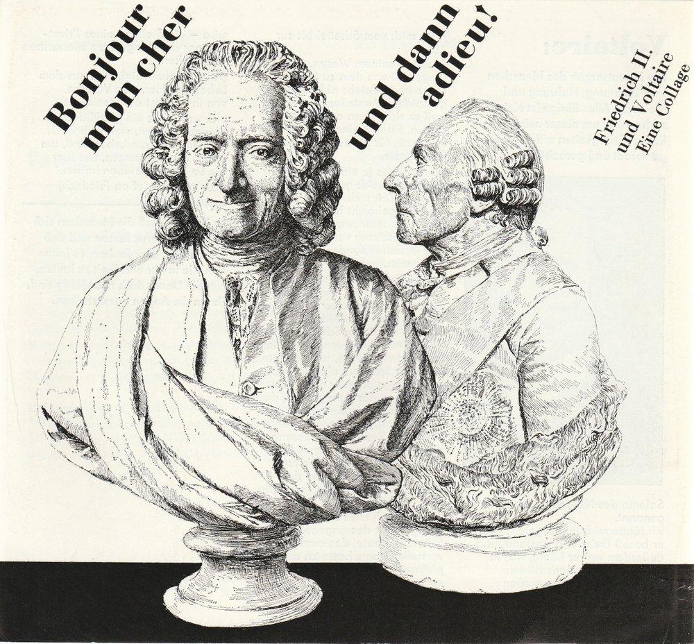 Programmheft BONJOUR MON CHER UND DANN ADIEU Hans-Otto-Theater Potsdam 1986
