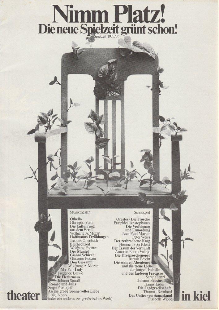 Theater in Kiel Spielzeit 1975 / 76 Spielplanvorschau