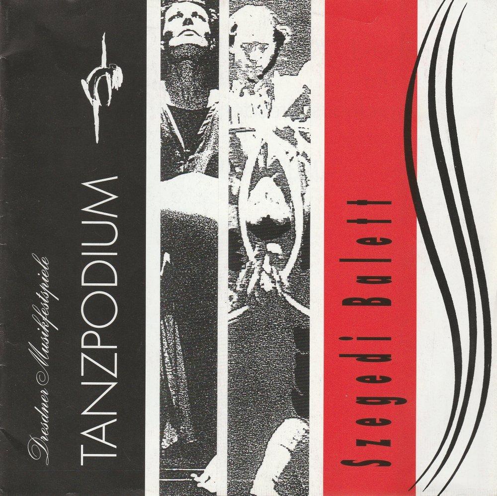 Programmheft Szegedi Balett STABAT MATER / HINTER DEM TRAUM Dresden 1993