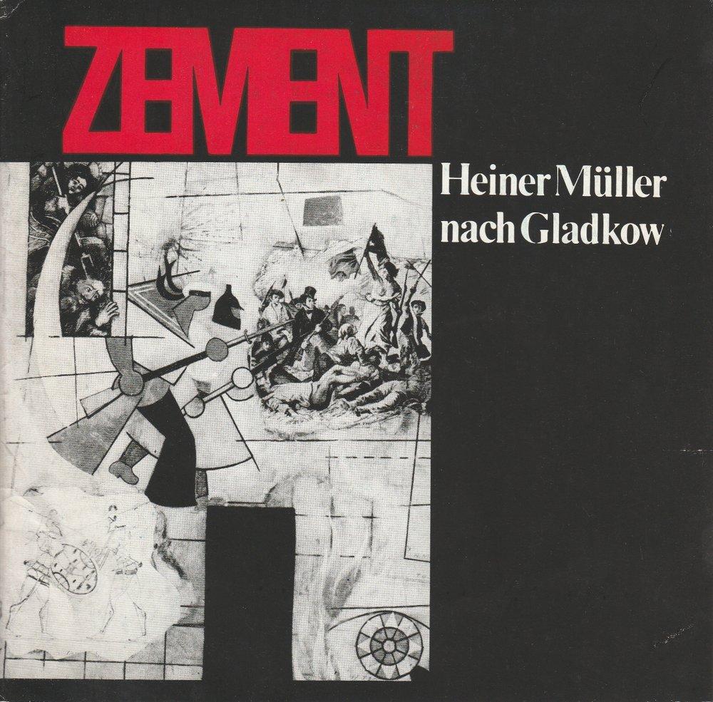 Programmheft Heiner Müller ZEMENT Hans-Otto-Theater Potsdam 1974