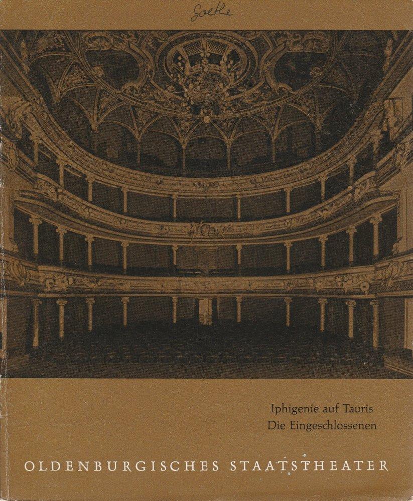 Programmheft Goethe / Sartre IPHIGENIE AUF TAURIS / DIE EINGESCHLOSSENEN 1960