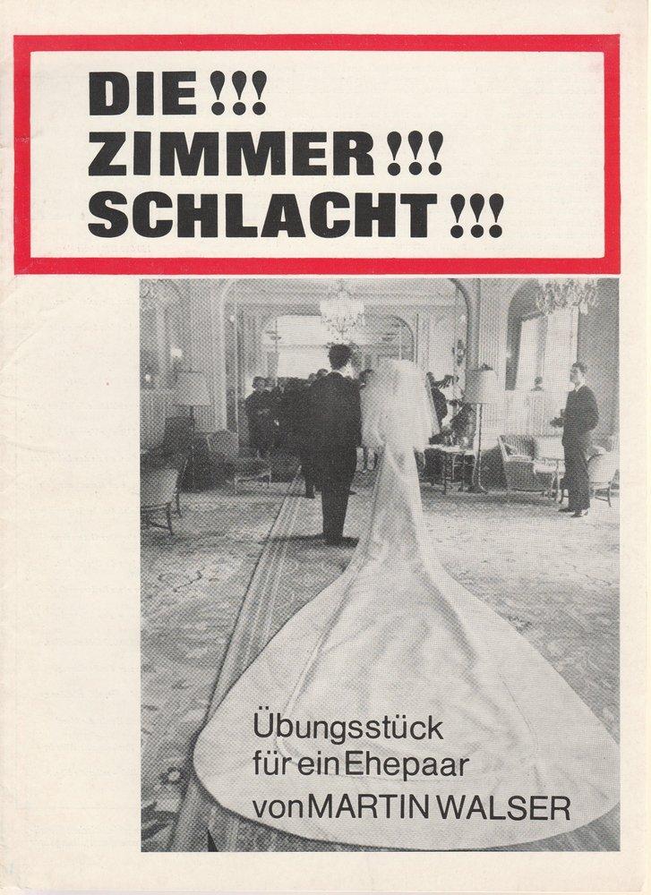 Programmheft Martin Walser Die Zimmerschlacht Volkstheater Rostock DDR 1969