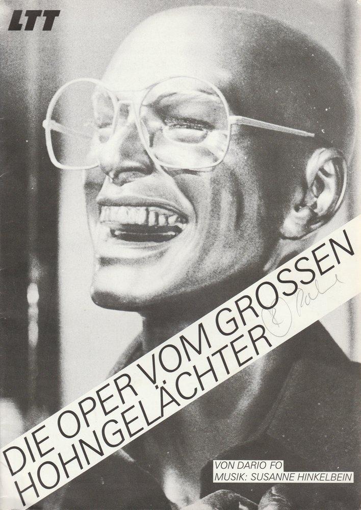 Programmheft Dario Fo DIE OPER VOM GROßEN HOHNGELÄCHTER LTT Tübingen 1983