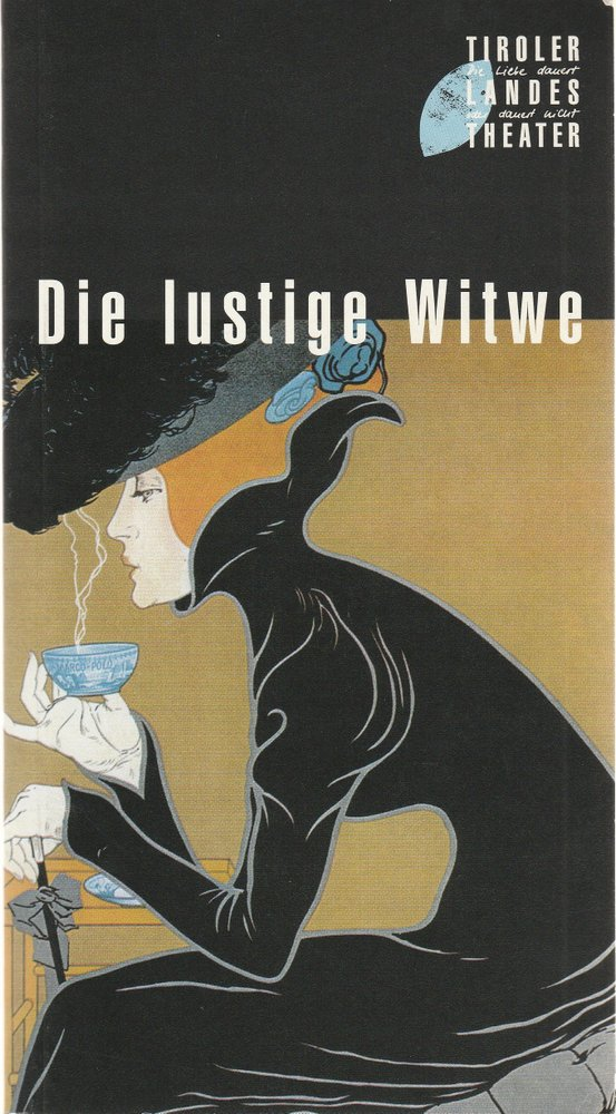 Programmheft Franz Lehar DIE LUSTIGE WITWE Tiroler Landestheater 1998