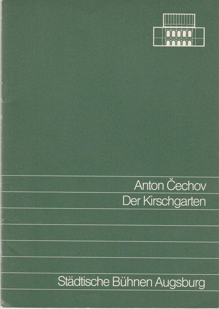 Programmheft Anton Cechov DER KIRSCHGARTEN Städtische Bühnen Augsburg 1988