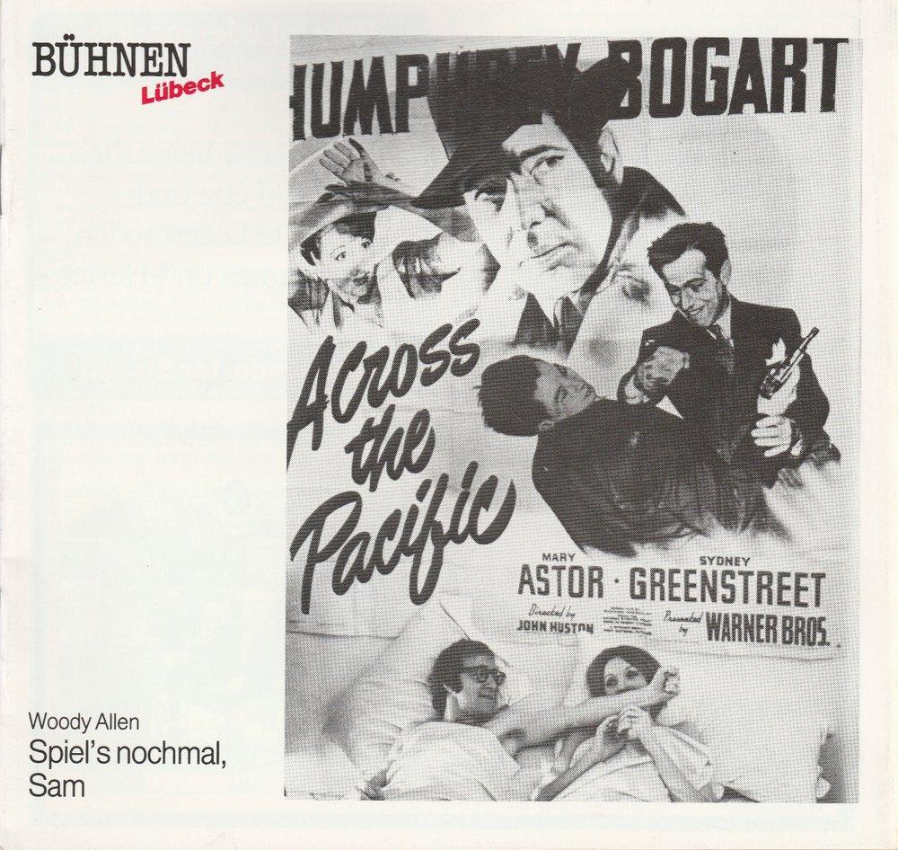 Programmheft Woody Allen SPIEL'S NOCHMAL SAM Bühnen Lübeck 1989