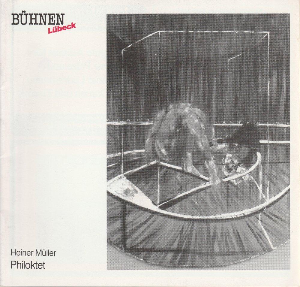 Programmheft Heiner Müller PHILOKTET Bühnen der Hansestadt Lübeck 1988